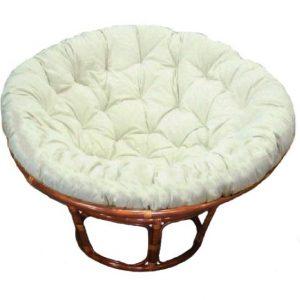 Papasan Chair Antique Brown (Walnut) Stain, Kapok Cushion