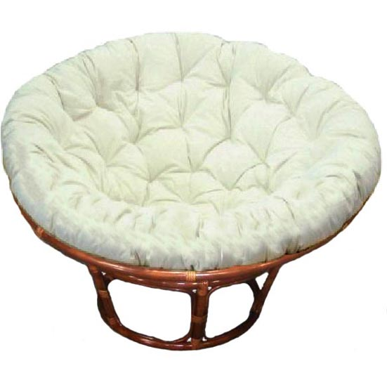 Papasan Chair Antique Brown (Walnut) Stain, Kapok Cushion