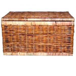 Flat Top Rattan Chest, Large