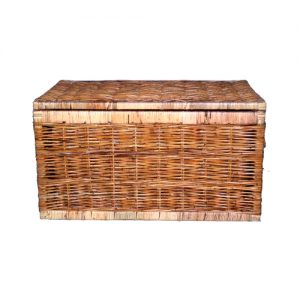 Flat Top Rattan Chest, Small