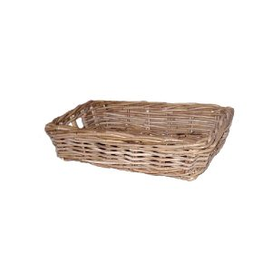 Rattan Tray, Grey Kubu, Small