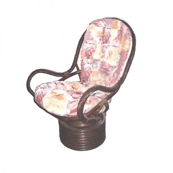 Swivel Rocker Chair. Twist Cane Frame