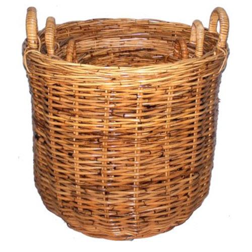 Rattan Log Baskets