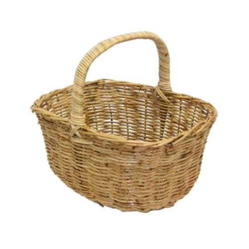 Deep Oval Rattan Basket
