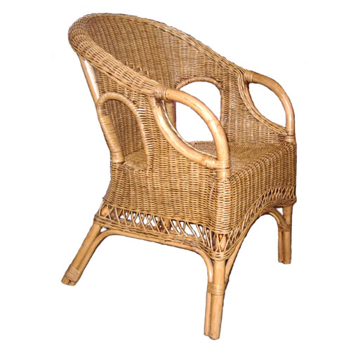 Swan Wicker Chair, ANTIQUE