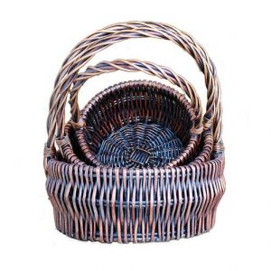 Dark Brown Round Baskets