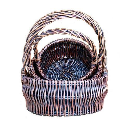 Dark Brown Round Baskets