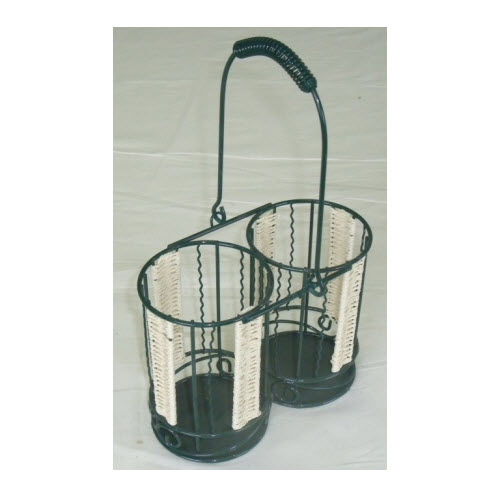 Wine Carrier Basket - Green
