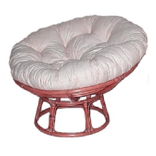 Papasan Chair Honey Frame, Calico & Dacron Cushion