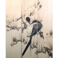 3 Panel Screen - Flowers & Birds Print