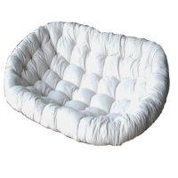 Papasan Settee Cushion, Calico Fabric & KAPOK Filling