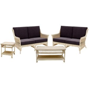Leonardo 4pce Cane Lounge Suite
