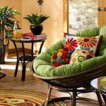 Papasan Chair with Dacron Cushion