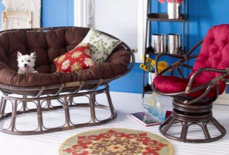 Papasan Chairs & Settees
