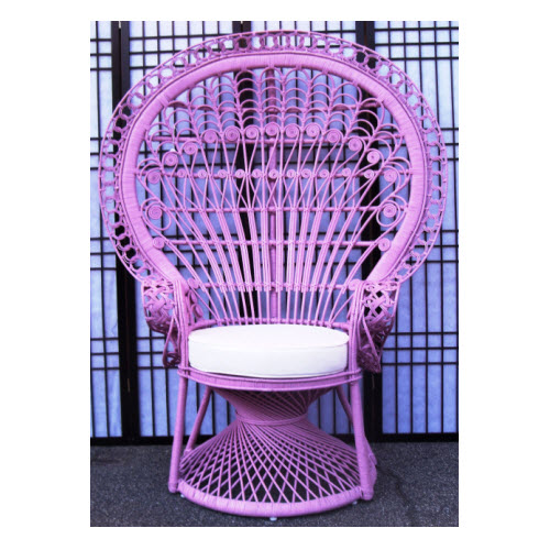 Peacock Morticia Chair, Pink Peel