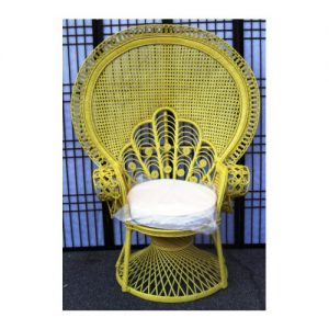 Peacock Morticia Chair, Yellow Peel