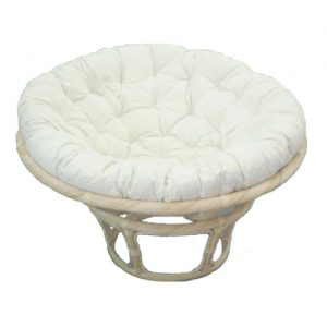 Papasan Chair Natural Frame, Kapok Cushion