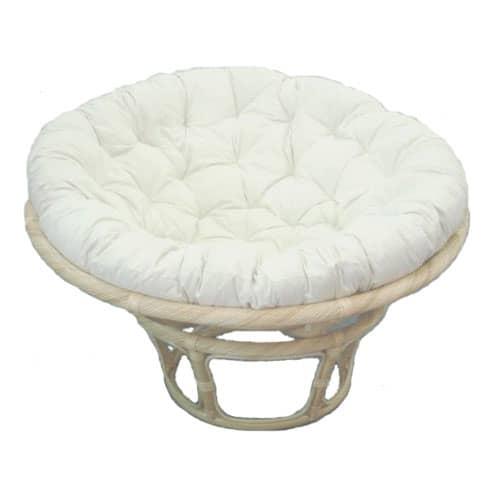 Papasan Chair Natural Frame Kapok Cushion Cobra Cane