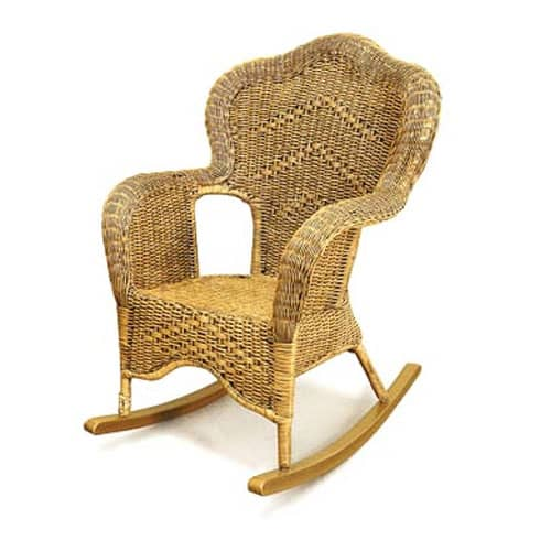 Windsor Wicker Rocking Chair
