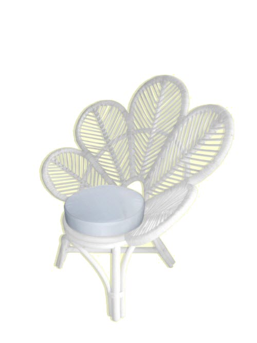 White Flower Chair