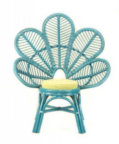 Charmant Flower Chair U2013 Dark Blue
