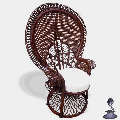Peacock Morticia Chair, Dark Brown