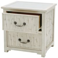 California 2 Drawer Bedside Table