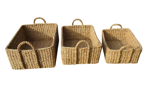 Ordinaire Rectangle Seagrass Storage Baskets