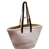 White Oversized Jute Market Bag