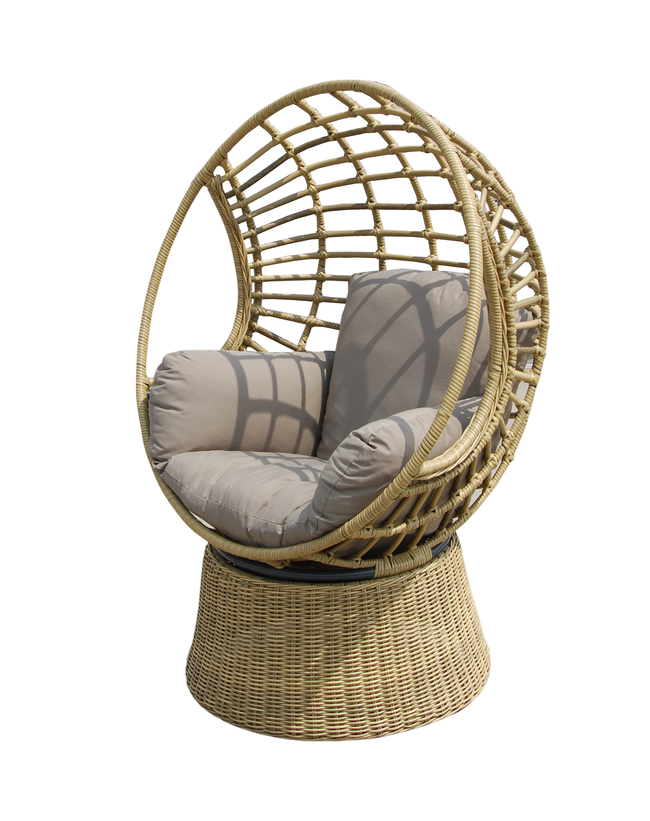 Robyn Swivel Egg Chair Cobra Cane