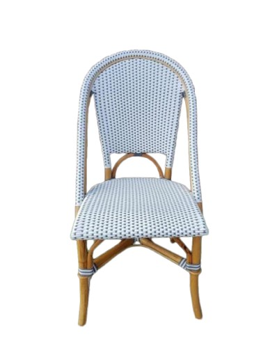 Ali Alfresco Dining Chair Grey And White Cobra Cane