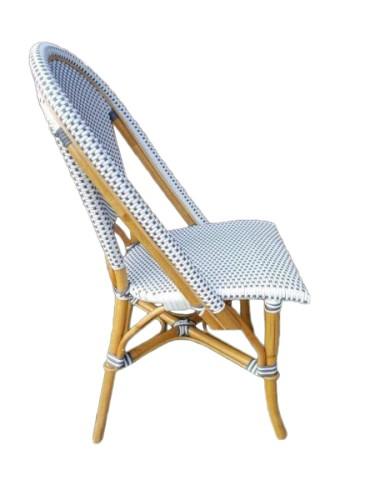 Ali Alfresco Dining Chair Grey And White Cobra Cane